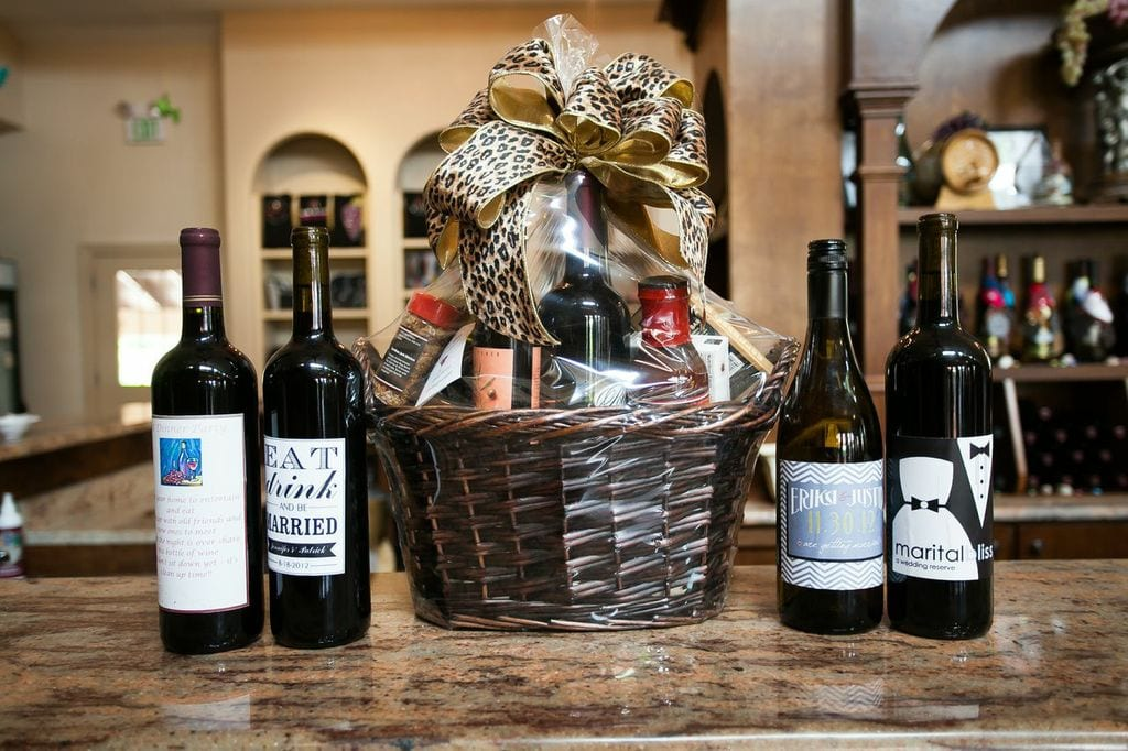 Gift basket from Potomac Point Winery