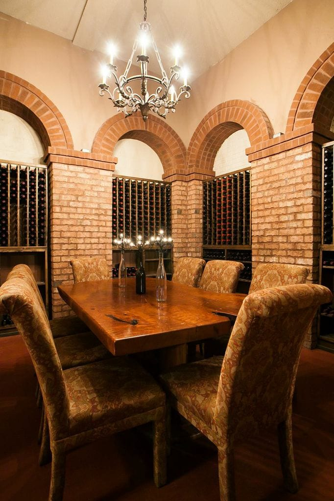 An alternate interior view of the Library Room at Potomac Point Winery