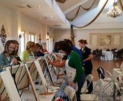 painting in ballroom