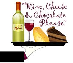 wine cheese and chocolate please
