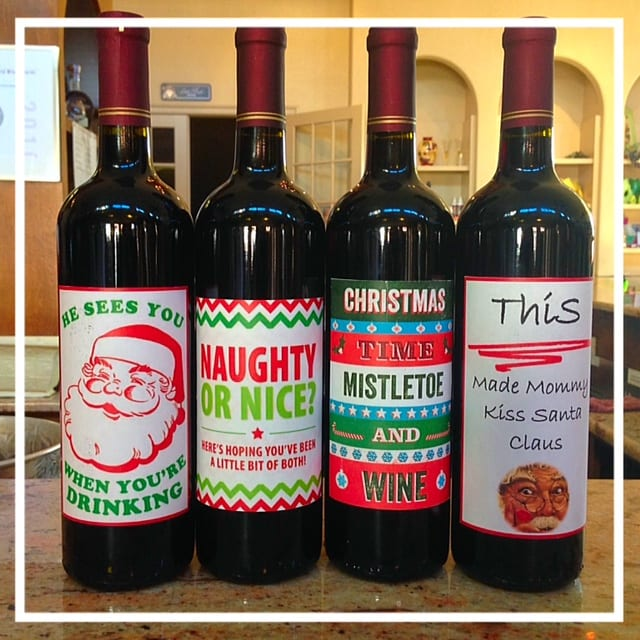 holiday wine labels - Wine Christmas Gifts