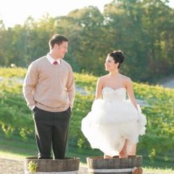 grape stomping couple
