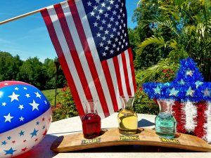 Red, White and Blue Wine